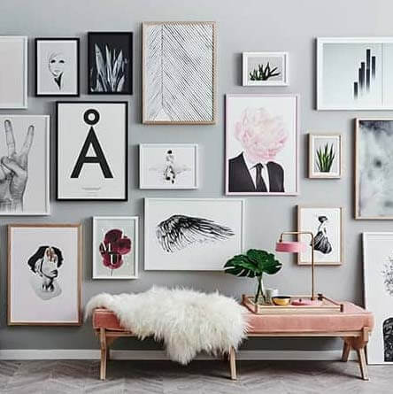 Gallery Wall photo framing tips