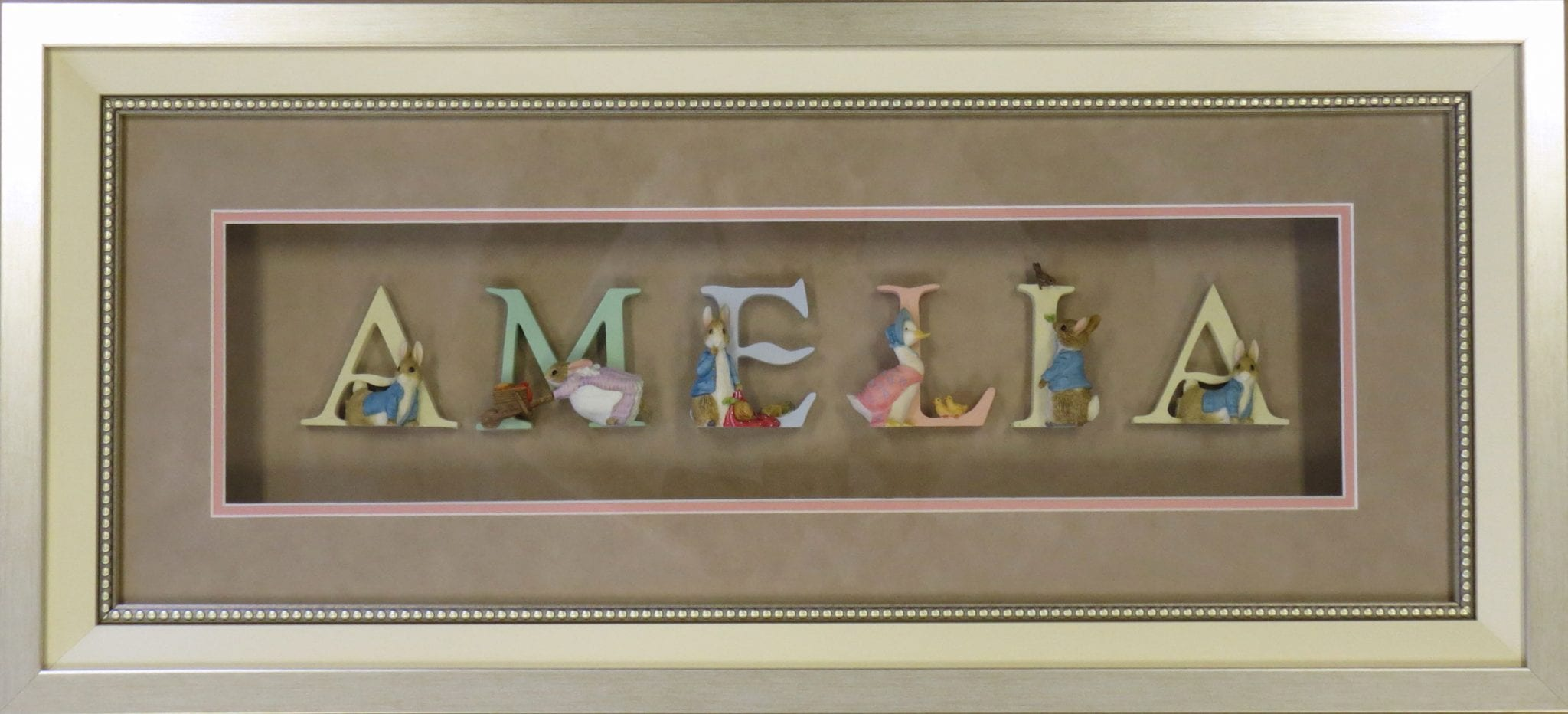 Shadow Box Framing with Letters