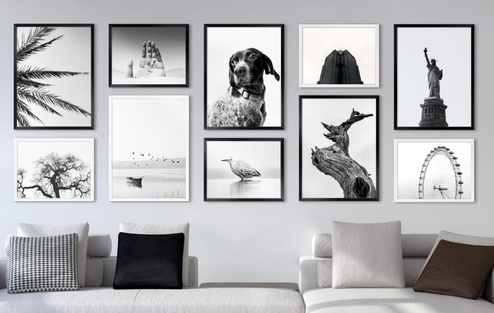 Photo collage walls
