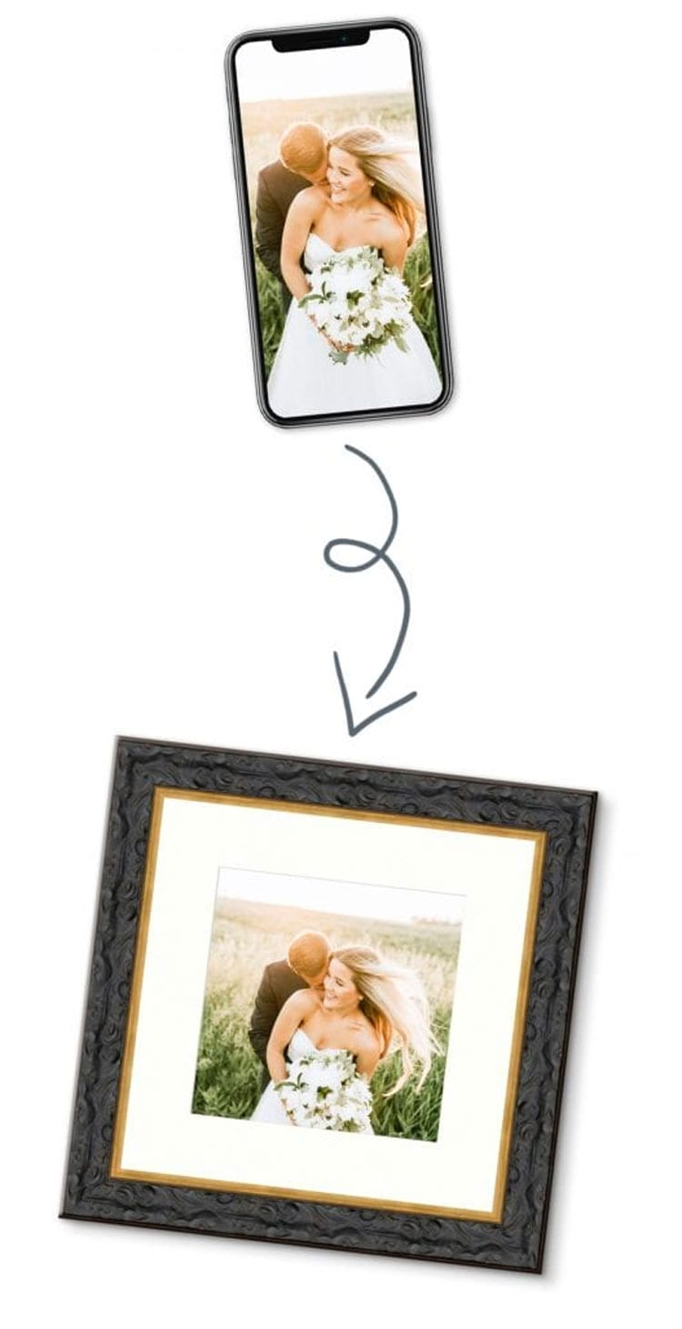 wedding photo printing and framing